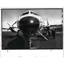 1989 Press Photo Aircraft Saab 340 That will Service Cleveland at Burke Airport