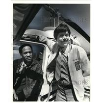 1981 Press Photo The Helicopter pilots Steve Melvin and Art Fontroy