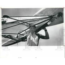1991 Press Photo Rick Eastin windsurfer