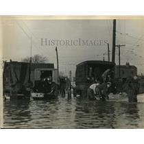 1937 Press Photo Louisville, Kentucky Flooding