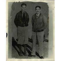 1929 Press Photo Bartlett Stephens and Fred McKinley, pilots of San Franciscan