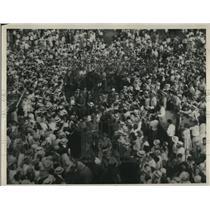1930 Press Photo Crowds at the Love Field Dalla Texas