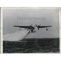 1946 Press Photo Martin Mariner, equipped with four solid propellant JATO units