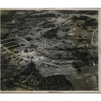 1935 Press Photo Above air view of the Military Reservation at Fort Knox