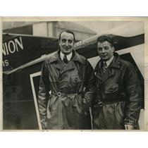 1930 Press Photo Sergeant de Troyat and Henri Delage - nex49798