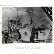 1941 Press Photo The German Mine boats in the French Channel Port