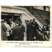 1927 Press Photo A scene at the Pari Mutuel at the largest Moscow track