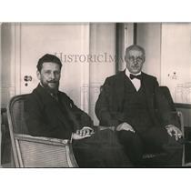 1921 Press Photo HE Carlo Schanzer Ex Minister of Treaty & Sen Luigi Albertini