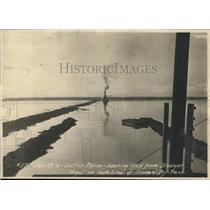 """1916 Photo Sutter Basin looking west from dredger """"Mogul""""-California"""