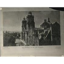 1926 Press Photo Cathedral of the City of Mexico