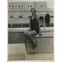 1931 Press Photo Ms. Ruth Goerke at Breaker Casino, Palm Beach in Florida