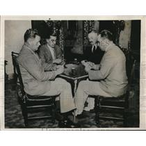 1933 Press Photo Major J.J. O'Hare, Louis Haddadi,Robert Halpil and S. Landahl