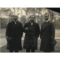 1922 Press Photo M Olamura , Goichi Abo, M Matsuki of Japan at White House