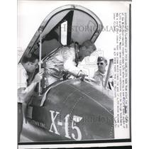 1961 Press Photo Edwards AFB Calif test pilot Joe Walker for X-15 rocket plane