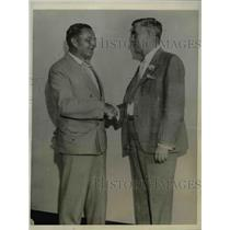 1932 Press Photo John Morlock & his successor, Pat McKewen