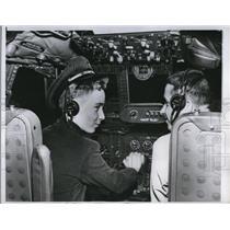 1955 Press Photo Northwest Orient Airlines Turbo Constellation - ned55088