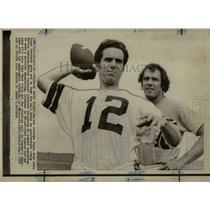 1972 Press Photo Dallas Cowboys Super Bowl hero Roger Staubach