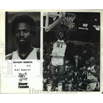 Press Photo Anthony Roberts, Forward for the Denver Nuggets