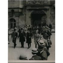 1919 Press Photo Austrian delegates at St Germaine chateau