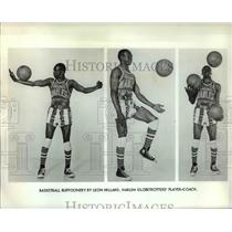 Press Photo Harlem Globetrotters, Leon Hillard player-coach