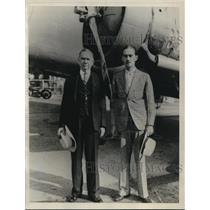 1933 Press Photo Daniel C. Roper and R.F.Roper National Democratic Clubs