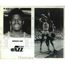 Press Photo Bernard King Utah Jazz