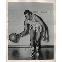 1956 Press Photo Jesse Coffey, Harlem Globetrotters Basketball Team