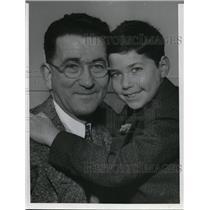 1940 Press Photo Abraham Pickus and his son Sheldon