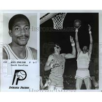 Press Photo Indiana Pacers Forward Alex English