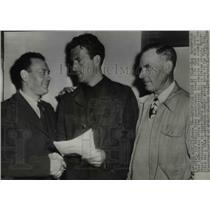 1946 Press Photo LA Calif Bob Waterfield LA Rams QB, UCLA coach B LaBruchette