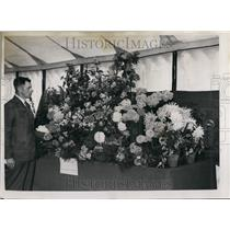1952 Press Photo Edenbridge and Oxted agricultural show.Flowers on display
