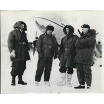 1953 Press Photo Flying Over The North Pole