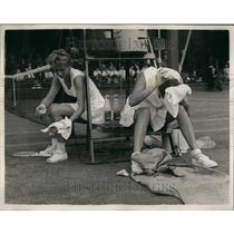 1959 Press Photo match at Wimbledon this afternoon.. Miss Moore was the winner.