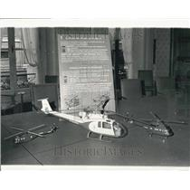 1968 Press Photo Models Anglo-French Cooperative Construction Helicopters