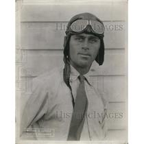 "1923 Press Photo Polot William Wobson also known as ""The Lucky One"" survived"