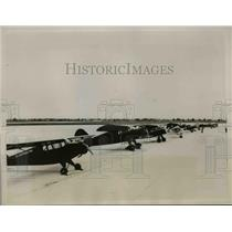 1937 Press Photo Miami Florida, sportsmen planes in Florida Air Show