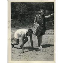 1929 Press Photo Chief White Horse & Little Faion