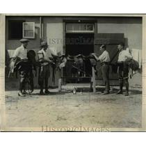 1924 Press Photo Trainers & stablemen of British Polo team at NY matches
