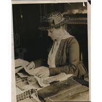 1917 Press Photo Grace Parker Pres of National League for Women's Service