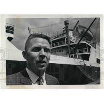 1969 Press Photo Robert D. Johnson, 36, newest Columbia River pilot - ora43339