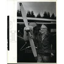 1994 Press Photo Ward E. Grove Pioneer Pilot Camas-Washougal Airport J3 Piper