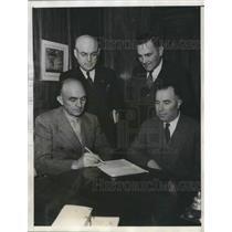 1936 Press Photo Pacific Coast League Baseball President, (l to r) Wilbur Tuttle