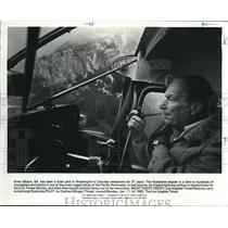 1982 Press Photo Ernie Gibson Has Been Bush Pilot For 37 Years - ora31019