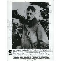 1990 Press Photo Charles Lindbergh, stunt pilot