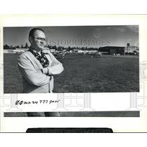 1983 Press Photo Pearson Air Park Director Tom Highland City Owned Airport