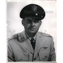 1956 Press Photo Lt. Col. Edward M. Fritsch, head of the ROTC Detachment