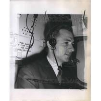 1955 Press Photo Chief Pilot Ferdinand Buck on flight across top of world