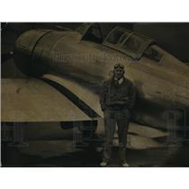 1937 Press Photo Frank W. Fuller Jr. Bendix transcontinental air Race - ora28115