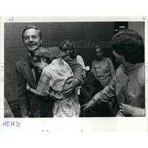 1984 Press Photo Michael Henderson, Portland International Airport Stranded