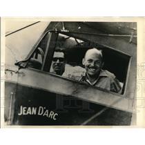1934 Press Photo Maj Stanley C. Jiggs & Garrad Kelly participating in Air Derby
